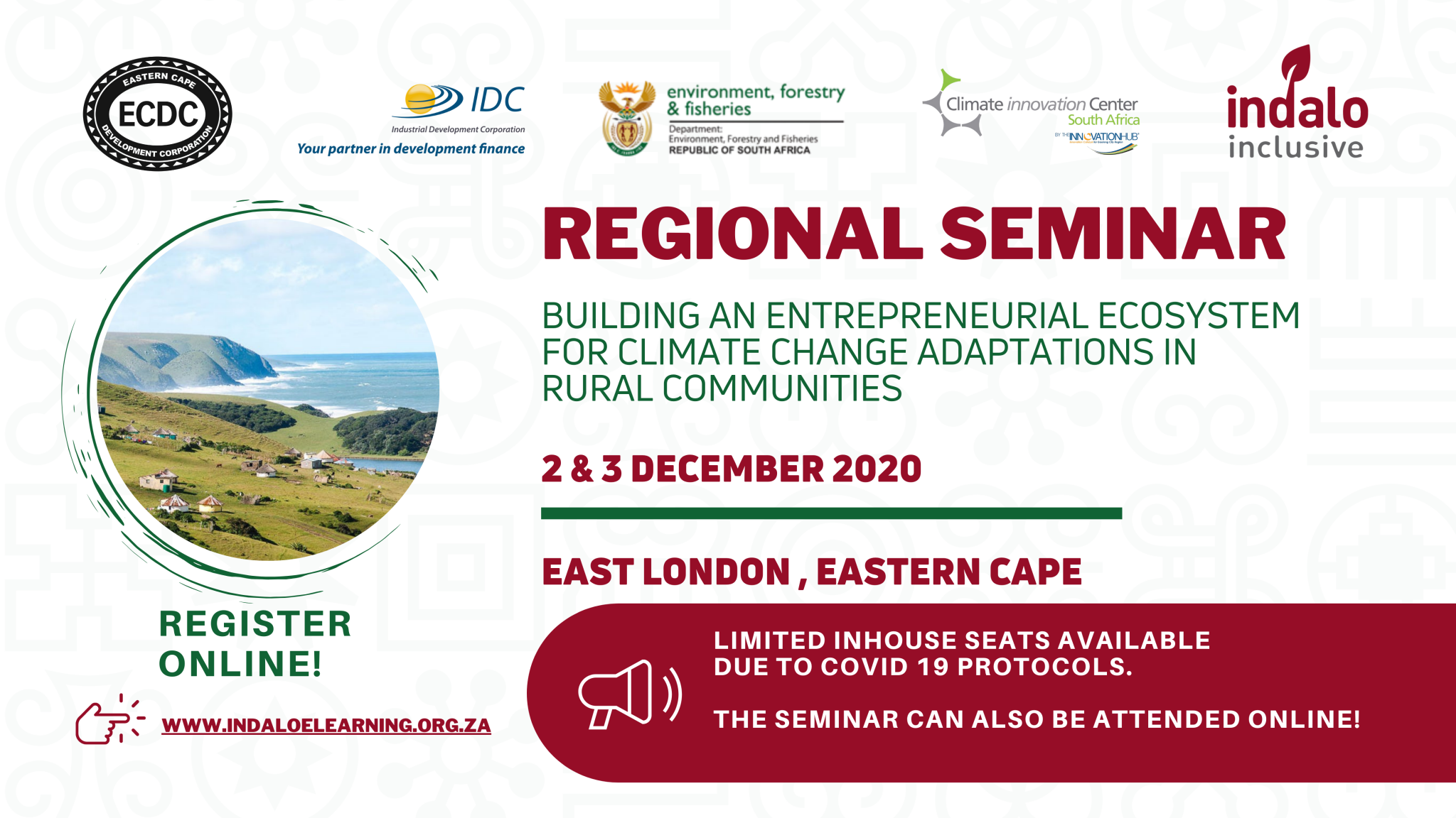 Regional Seminar - Building an Entrepreneural Ecosystem for Climate Change Adaptations in Rural Communities - Online Banner